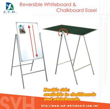 School And Office Double Side Chalkboard Flip Board Easel Stand ...