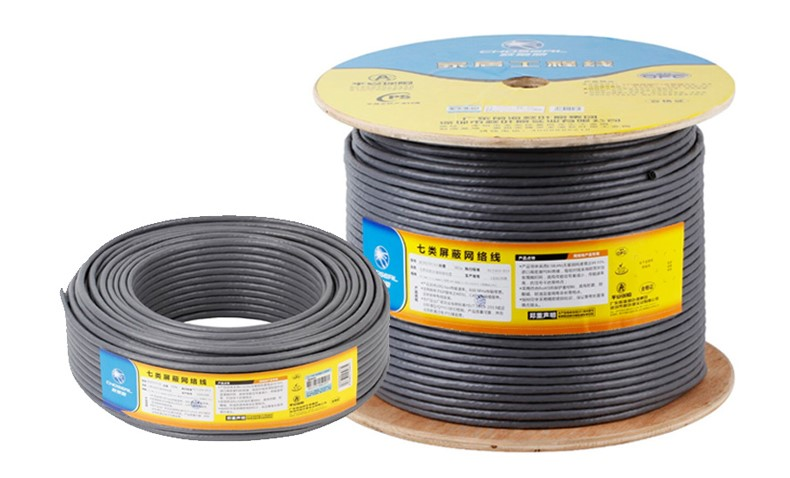 Choseal QS6172A STP Cat7 Network Cable Double Shielded Cat 7 Lan Cable 10 Gbps Pure Oxygen-送料Copper 305M