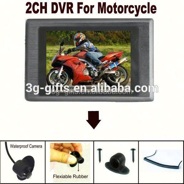 shenzhen best 2 ch mini dvr with built-in lcd monitor