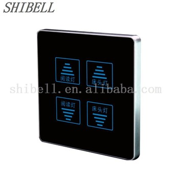 shibell 4 gang touch screen light control switch double. Black Bedroom Furniture Sets. Home Design Ideas
