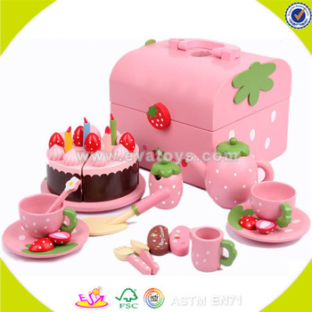Swell Wholesale Baby Wooden Birthday Cake Set Toy Top Fashion Kids Funny Birthday Cards Online Aeocydamsfinfo