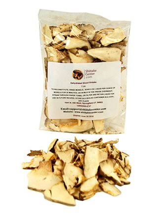 Dried Sliced Shiitake Mushrooms - 1 Oz. Bag - Dehydrated Edible Gourmet Lentinula Edodes Fungi: Shitake