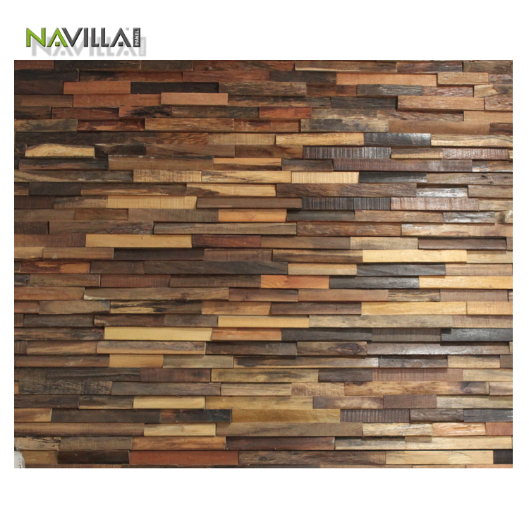 Decorative Wood Wall Panel Tile Wooden Mosaic