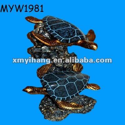 Fish And Turtles Design Fish Tank Unique Resin Aquarium Ornaments ...