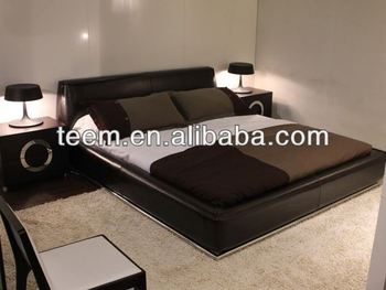 italy design real leather beds bedroom furniture free shipping - Shipping Bedroom Furniture