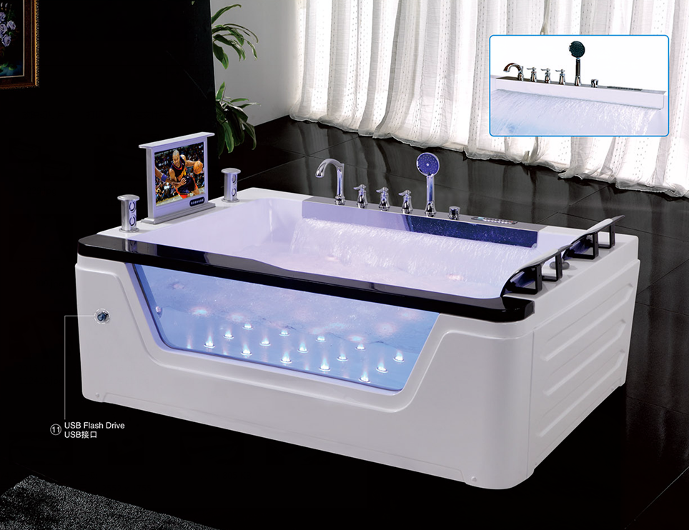 Hs-b229 Indoor Apron Double Seat Acrylic Square Bathtub Sizes ...