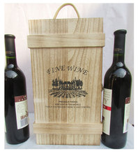 Red Wine Wooden Packaging Box party gift
