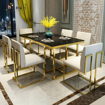Custom Top Quality Gold Dinning Tables