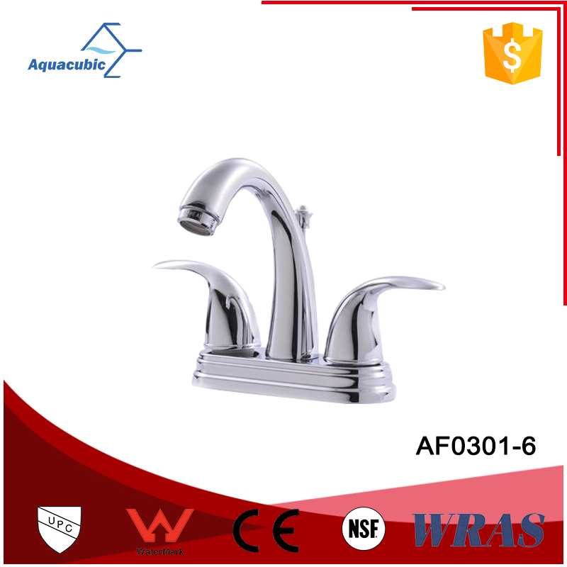 Double handle 4 inch lavatory upc copper faucet