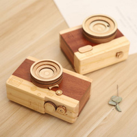 Hot Sale Hand crank DIY music box Handmade Creative wooden mini sky city Music box movement for sale