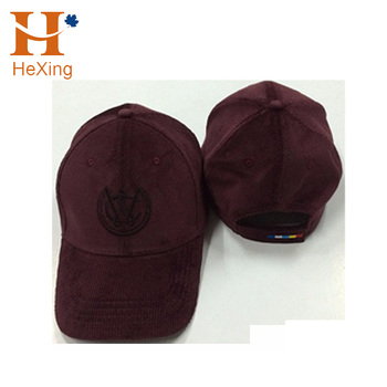 6d54753c7ad Custom Hot Sale Corduroy Dad Hat Embroidery 6 Panel Unstructured Crown Baseball  Cap