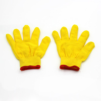 Low price high technology safety work knitted white cotton gloves