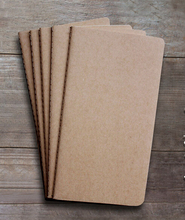 Plain Kraft Notebook Sketchbook 9.5cm X 15cm Kraft Cahiers Notebook Stationery