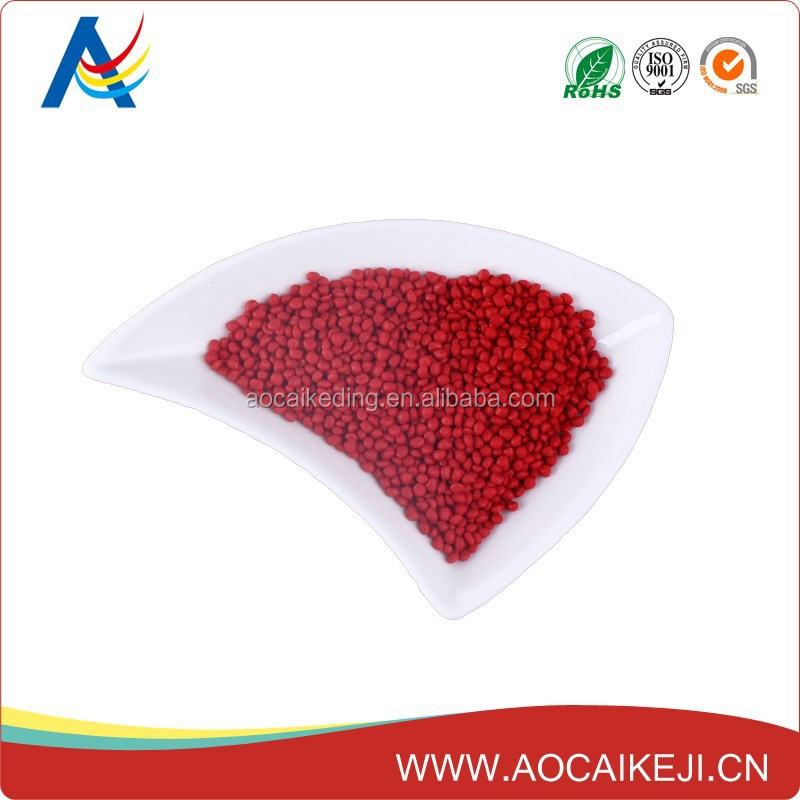 Red masterbatch plastic pigment HDPE/LDPE/PET/PA granule for nonwoven spunbond packaging bags