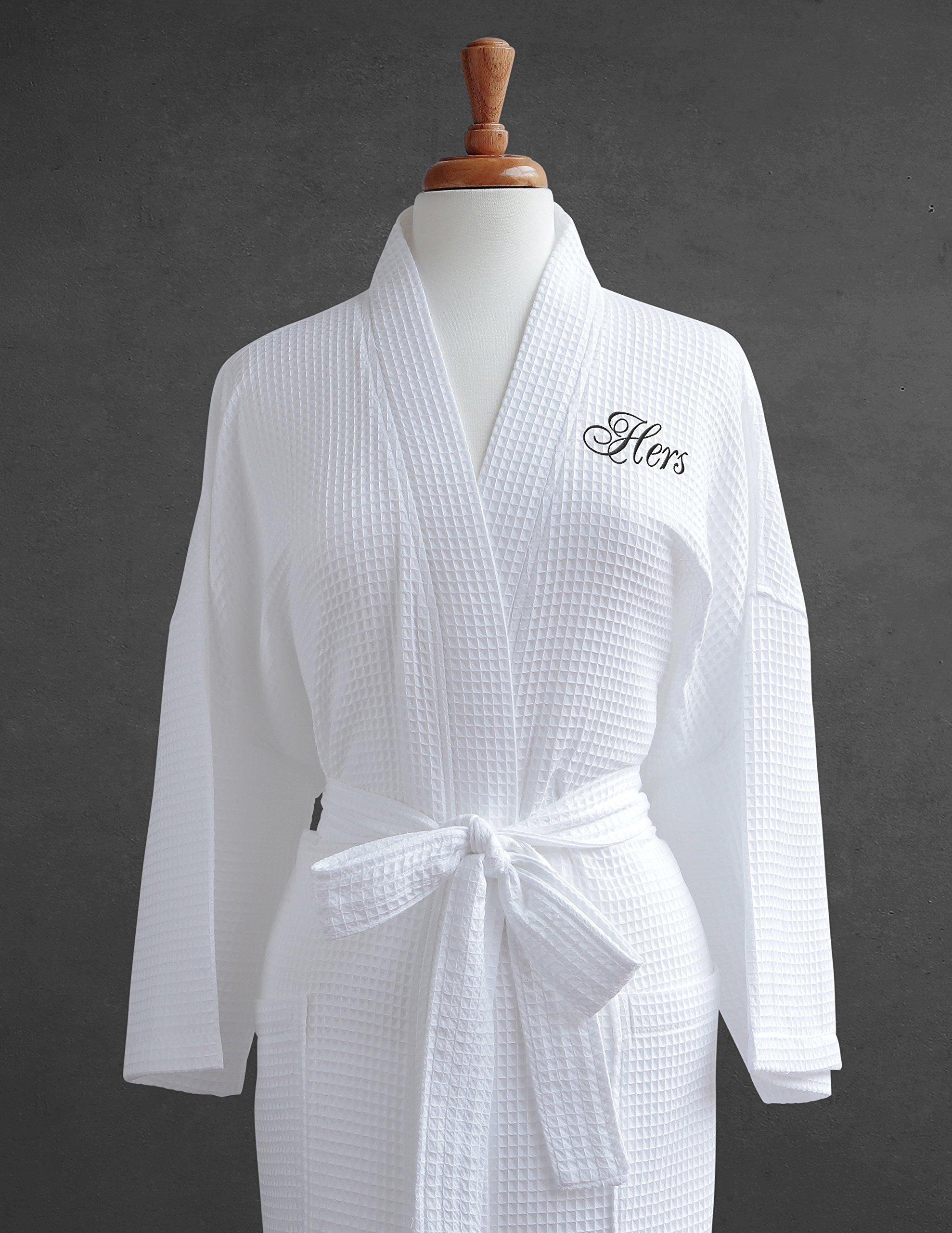 0d5d8b4a6c Luxor Linens Egyptian Cotton Hers Waffle Weave Robe - Perfect Wedding Gift!  - Hers