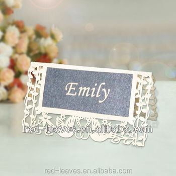 Hand Making High End Table Card Wedding Guest Place Supplies Guitar Name
