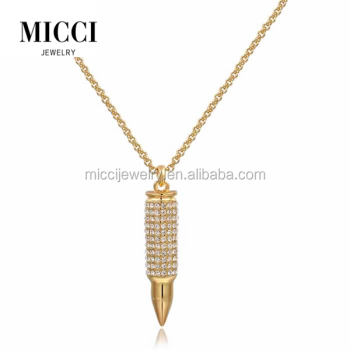 Vogue crystal inlay bullet jewelry pendantengraved bullet simple vogue crystal inlay bullet jewelry pendant engraved bullet simple 14k gold chain necklace and pendants aloadofball Images