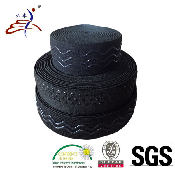 Silicone Gripper Elastic Webbing Tape