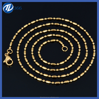 14K Gold Plated Simple Gold Chain Necklace ,Gold Neck Chain Designs
