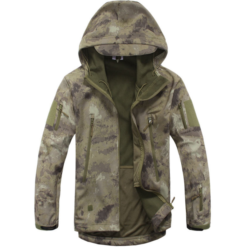 New Shark Skin Tactical Military Camo Jacket Waterproof Softshell Outdoor Jackets Mens Army Hunting Hoody Jacket Size S-3XL