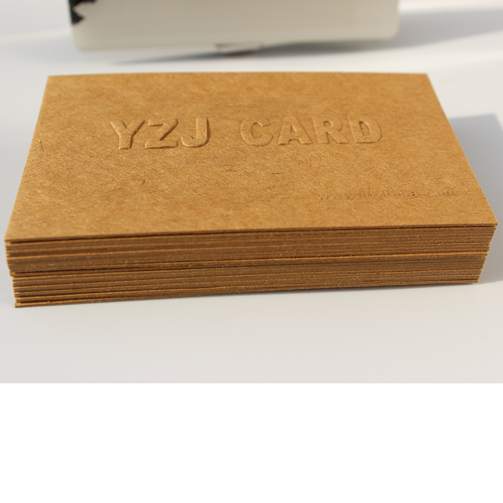 Luxury Business Cards light brown cotton paper