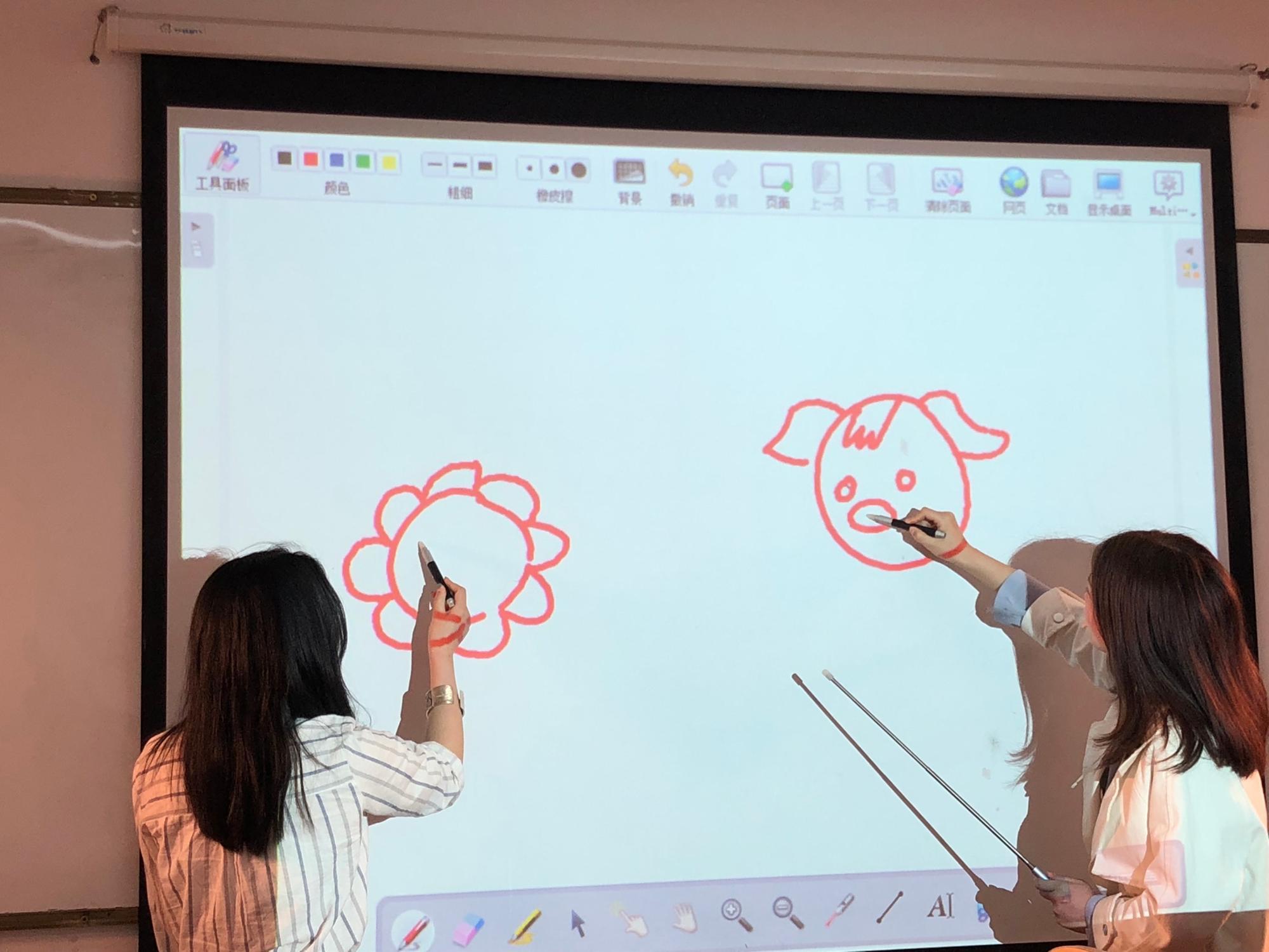 Infrarrojos IR pluma control remoto Wii Pizarra Interactiva Dual activado Oway Interactive Pen