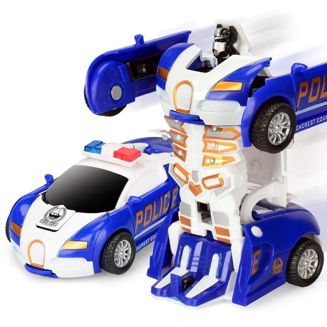 Keland Children Toy Mini Manual Collision Deformation Car Robot Toy Vehicle Playsets