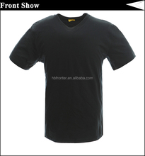 O neck 100% cotton blank black t shirt for sale