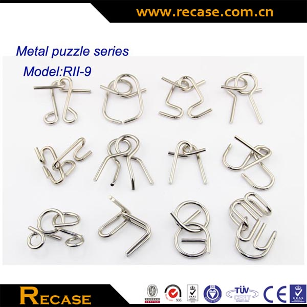 Metal Wire Puzzle Metal Puzzle Set Entertaining Trick Brain Teaser ...