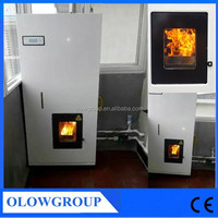 high efficient wood pellet stove china/ 24kw radiators pellet stove/ wood burning stove with boiler