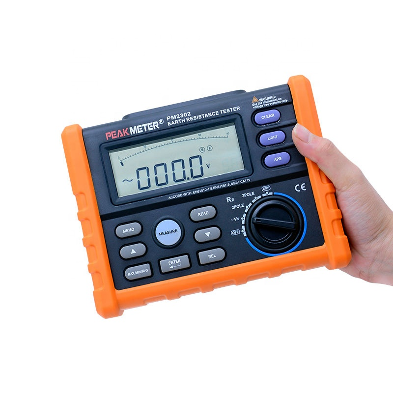 hotsale digital earth resistance ground tester PM2302, digital and Analog Bars Display earth resistance tester PM2302