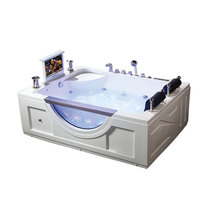luxurious 2 person comfortable whirlpool bathtub