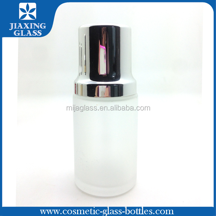 30ml Frosted Glass Bottles With Rotating Dropper/ Foundation Serum Glass Cosmetic Bottle