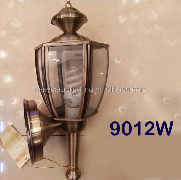 Antique polished bronze outdoor wall lights ,high quality iron & glass outdoor wall lamp (9012W AB)