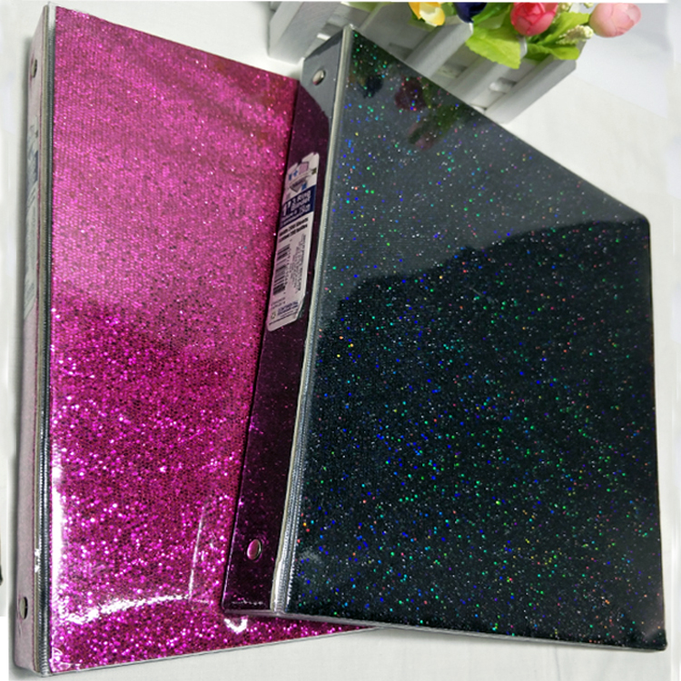 Office document organizer glitter ring binder lever arch box file
