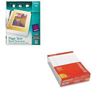 KITAVE74203UNV20630 - Value Kit - Avery Top-Load Poly 3-Hole Punched Sheet Protectors (AVE74203) and Universal Perforated Edge Writing Pad (UNV20630)