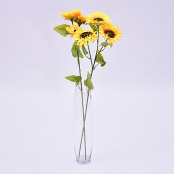 Rh50105 Grosir 3 Kepala Pernikahan Dekoratif Buatan Bunga Matahari