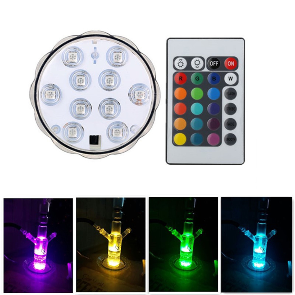 New Products Pure White/Red/Green/Blue/Mixed Multi 색 꽃 Shape Rotating LED 장식 잠수정 빛 Base w/Remote
