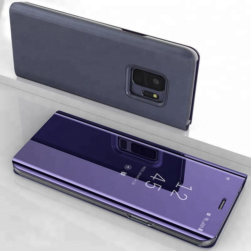 CLear Luxury Plating view Smart Flip Cover Mirror Phone leather <strong>Case</strong> For Samsung Galaxy J6