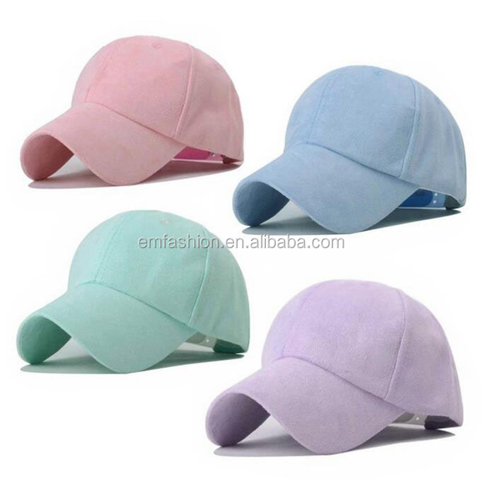 Wholesale 21 Colors 6 Panel Blank Strap Back Women Men Suede Baseball <strong>Cap</strong>