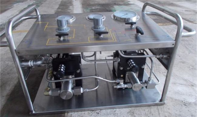 Hydrostatic Pressure Test Bench Air Liquid Booster Pump
