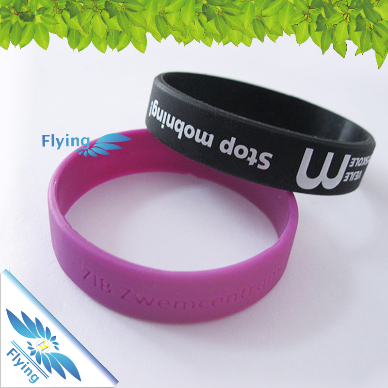 Best selling elastic magnetic rubber fitness wrist band event wristbands edge elastic band