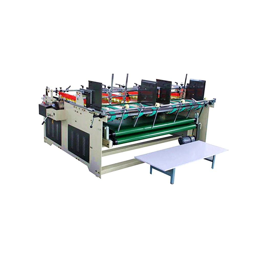 Manufacturer Supply semi automatic folder gluer for paper box