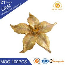 Glod plated crystal orchid custom cc magnetic brooch