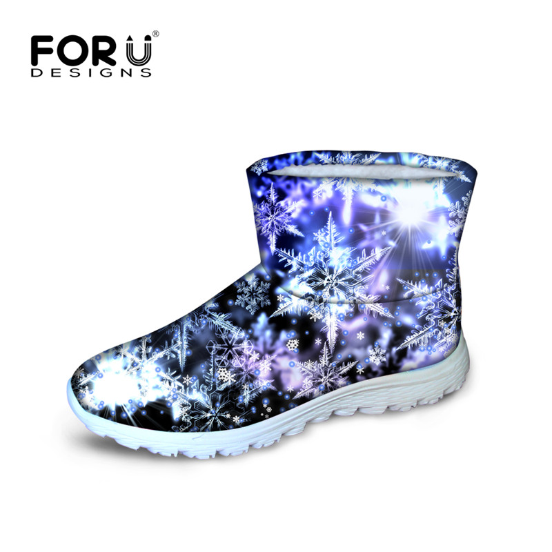 Amazing Snowflake Printing Snow Boots For Teenage Girl ...