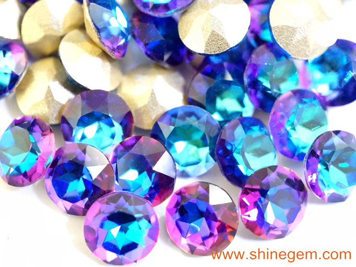 Fashion Hot sale high refractive degree point back volcano Flames nail art glass rhinestones for nail art decorations