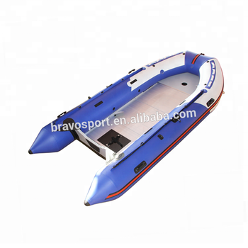 2018 CE China Blue Color 4.3m PVC Inflatable Rowing Boat For Sale