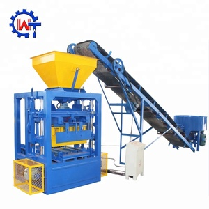 Machines for small industries QT4-24 simple solid concrete block making