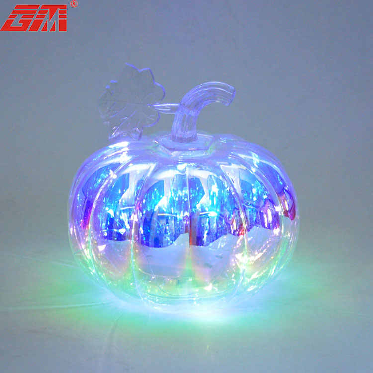 Wholesale new products artificial big led light craft halloween pumpkin with battery for decoration