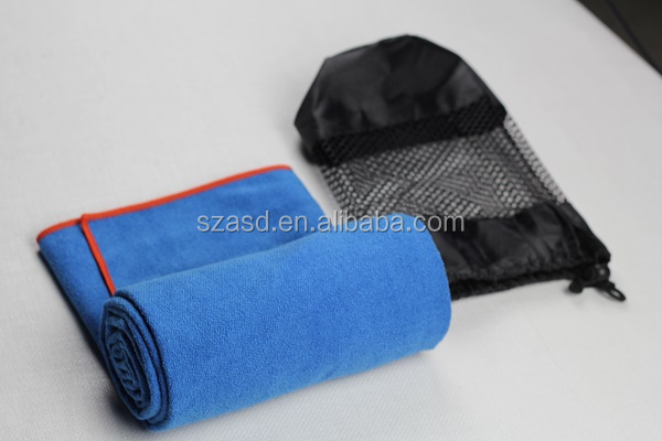 large size microfiber ant premium yoga mat towel with mesh bag from alibaba golden supplier